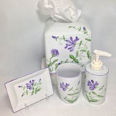 Porcelain Bathroom Accessories - Handmade / Handpainted