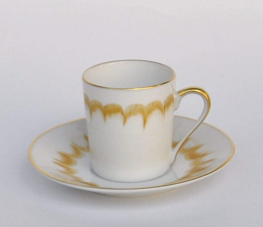 LIMOGES ESPRESSO CUPS AND SAUCERS BY  MARIE DAAGE