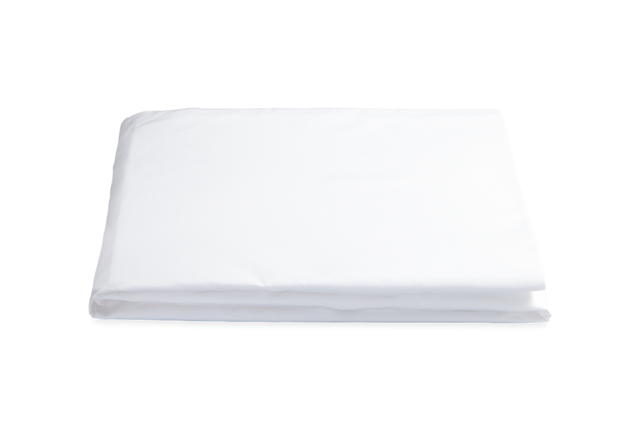 LOWELL KING FITTED SHEET - WHITE