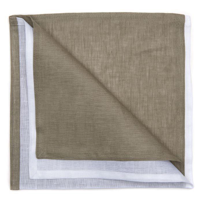 LINEN COLOR BLOCKED OVERSIZE NAPKIN
