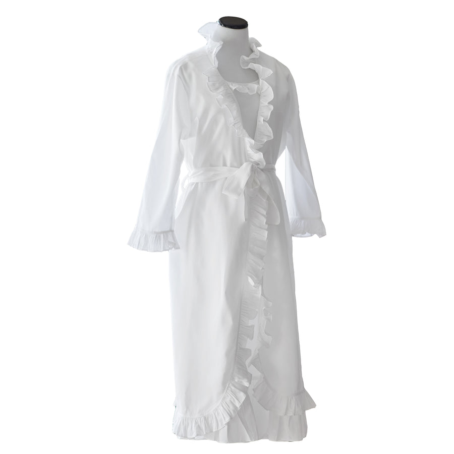 Ruffled Robe with 1 Letter Monogram