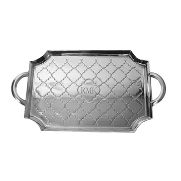 CASABLANCA LARGE SERVING TRAY - MONOGRAMMED