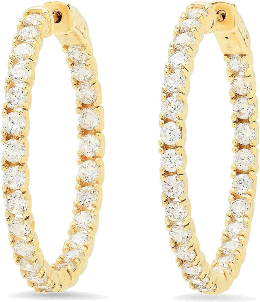 Vibrant Medium Round Hoops - Gold
