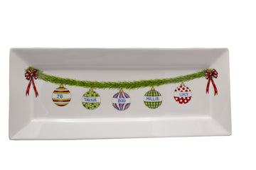 PERSONALIZED CHRISTMAS ORNAMENT TRAY