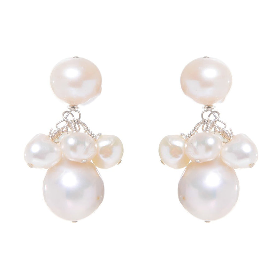 AUDREY DROPS IN WHITE PEARLS BY MEG CARTER