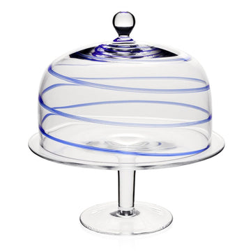 BELLA BLUE DOME AND CAKESTAND BY WILLIAM YEOWARD