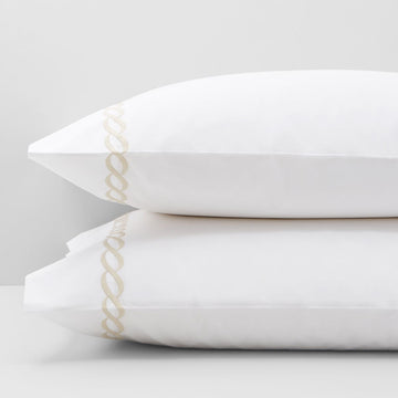 CLASSIC CHAIN PILLOW CASE-PAIR BY MATOUK