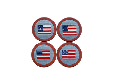 Needlepoint Coaster Set - America Flag