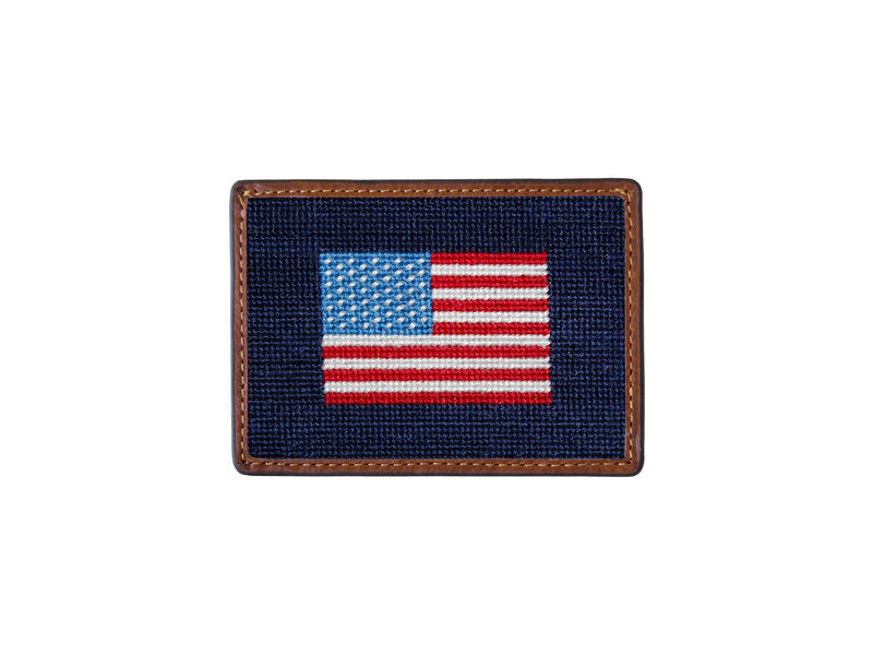 Needlepoint Card Wallet - Americana