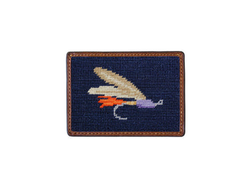 Needlepoint Card Wallet - Fishing Fly