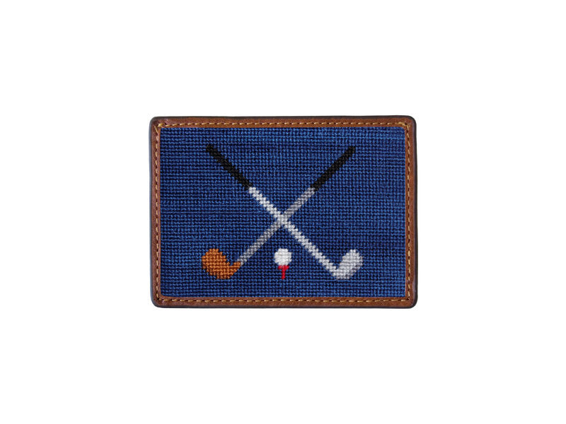 Needlepoint Card Wallet - Golf Club