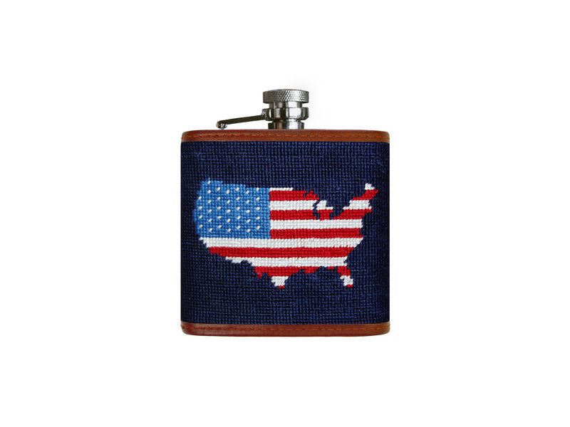 Needlepoint Flask - Americana