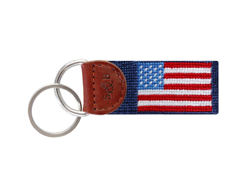 Needlepoint Key Fob - American Flag
