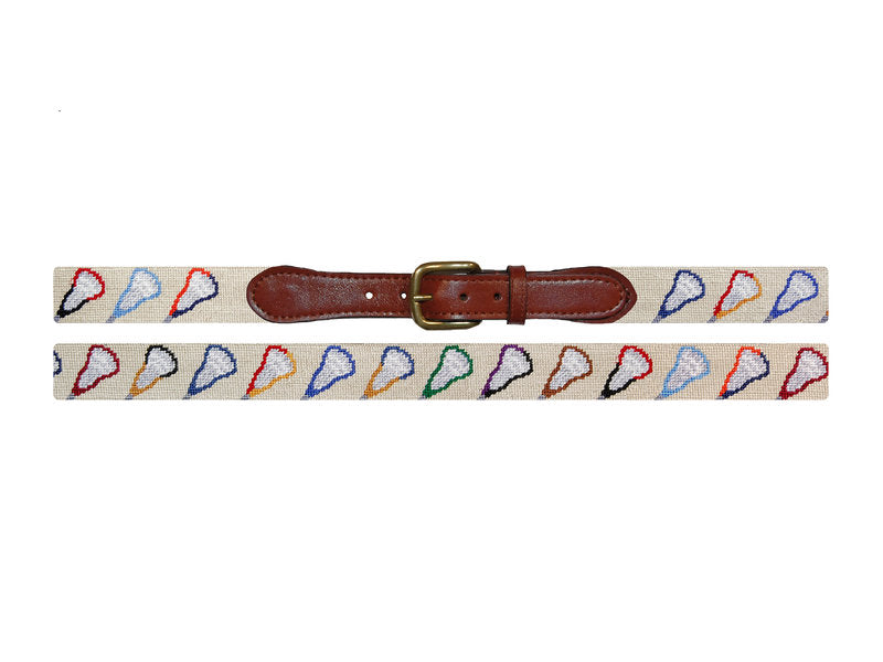 Needlepoint Belt - College Lacrosse