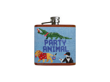 Needlepoint Flask - Party Animal