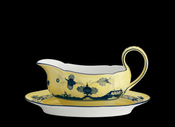 ORIENTE ITALIANO CITRINO GRAVY BOAT BY RICHARD GINORI