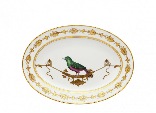 VOLIÈRE OVAL PLATTER BY RICHARD GINORI