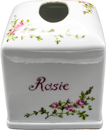 Personalized Porcelain Tissue Hoolder