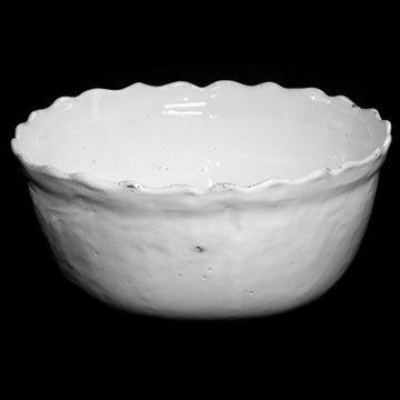SCALLOPED SALAD BOWL BY ASTIER DE VILLATTE