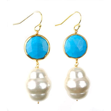 Seychelle Earring Blue by Sissy Yates Designs
