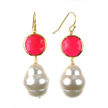 Seychelle Earring Pink by Sissy Yates Designs