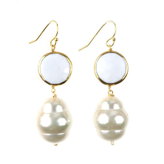 Seychelle Earring White by Sissy Yates Designs