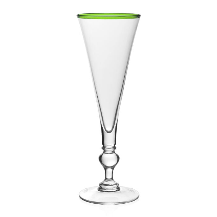SIENA GREEN CHAMPAGNE FLUTE BY WILLIAM YEOWARD