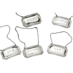 Silver plated Liquor Tags