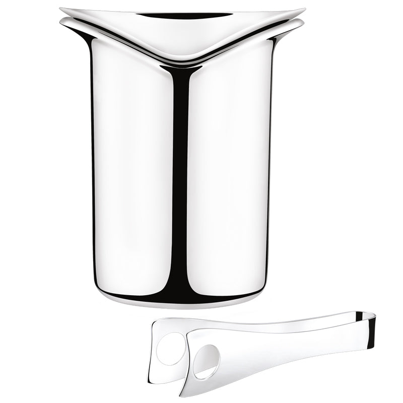 WINE ICE BUCKET WITH TONGS BY GEORG JENSEN