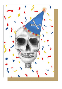Colourful Alternative Skull Birthday Card Emma Inks