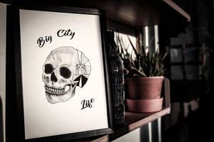 Emma Inks Skull Drawing Travel Print