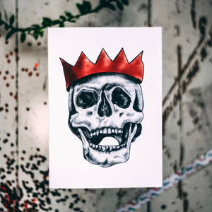 Party Hat Skull Alternative Christmas Card