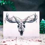 Reindeer Skull Alternative Christmas Card