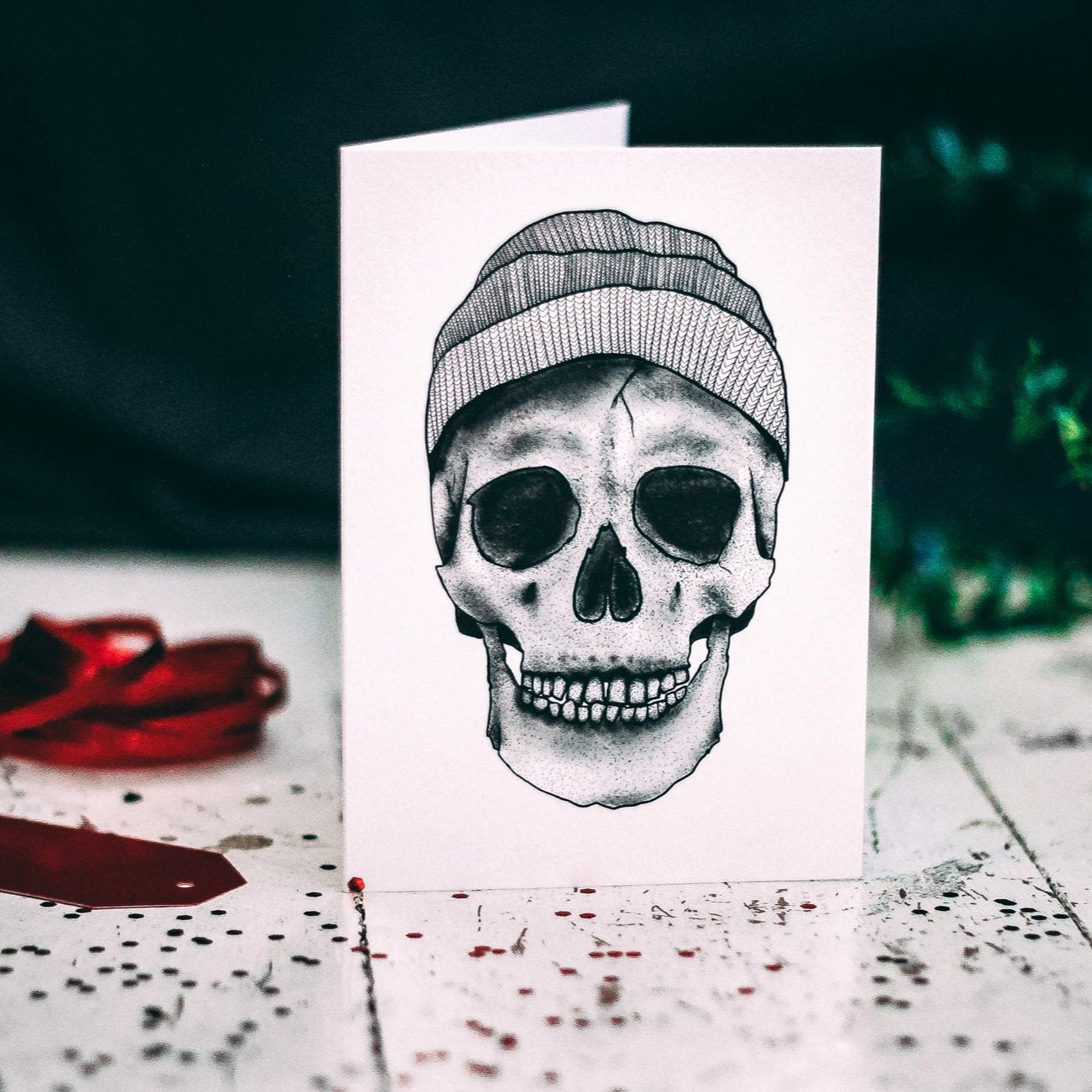 Beanie Hat Skull Alternative Card