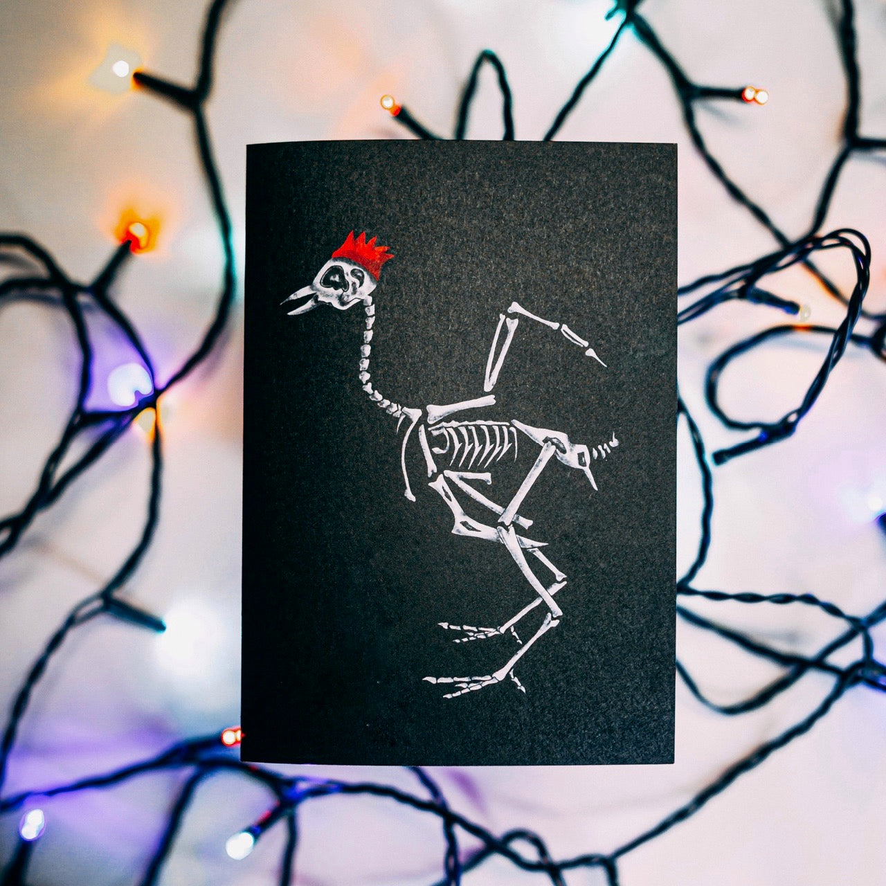 Turkey Skeleton Gothic Christmas Card