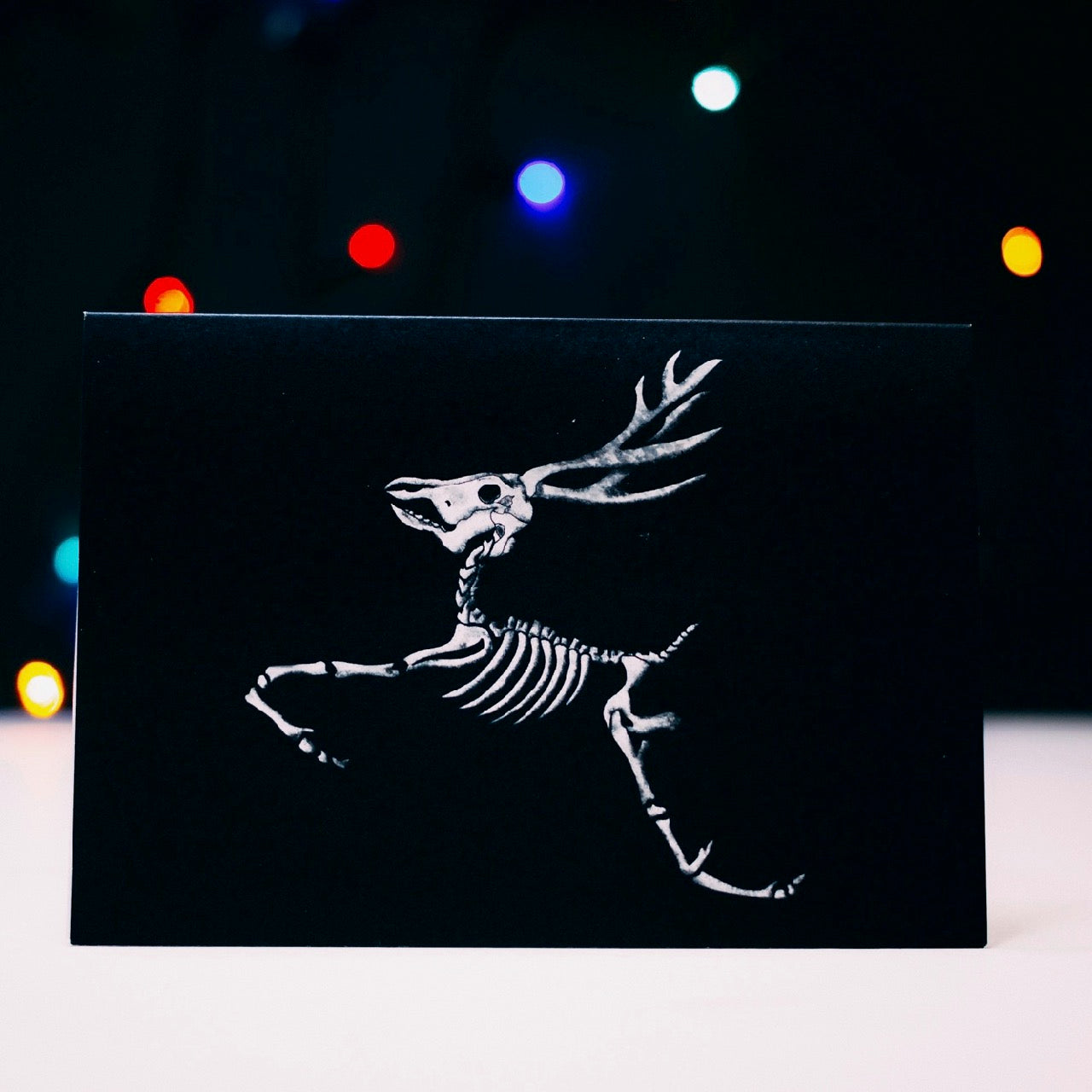 Flying  Reindeer Alternative Christmas Card