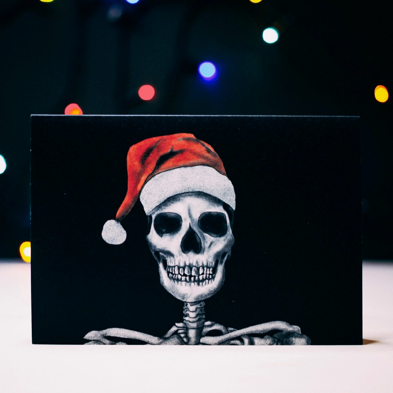 Santa Skeleton Gothic Christmas Card