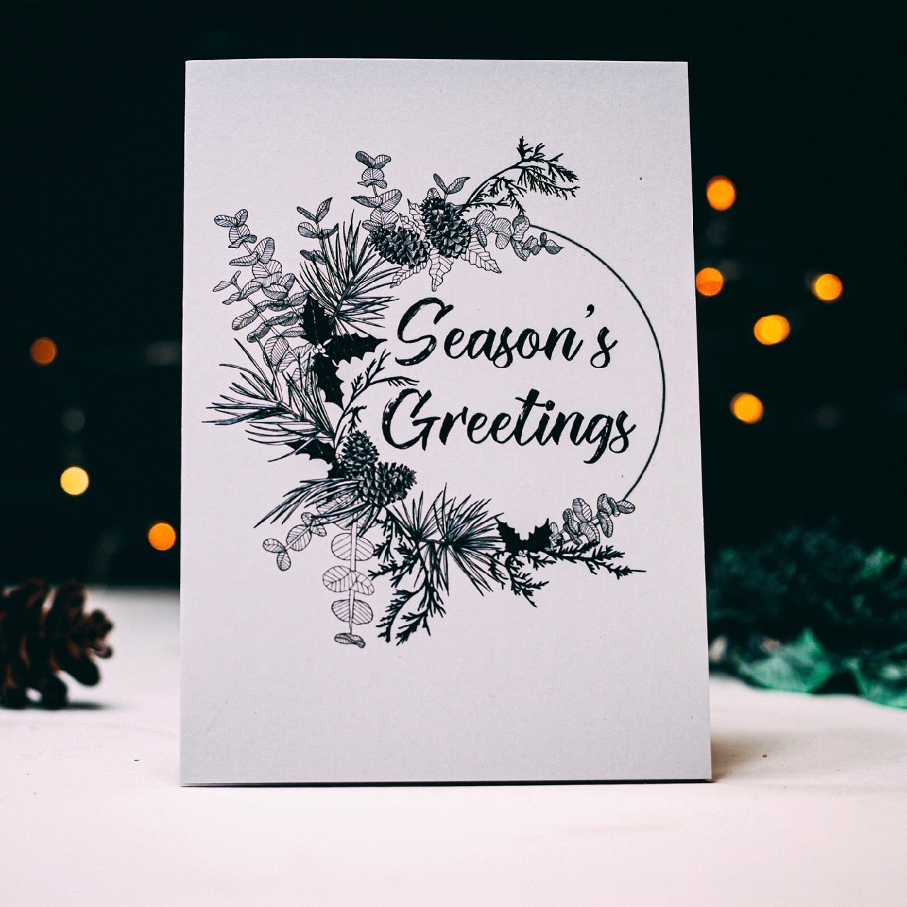 Set of 6 Botanical Christmas Cards
