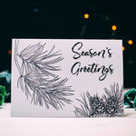 Pine Illustration Seasons Greetings Card