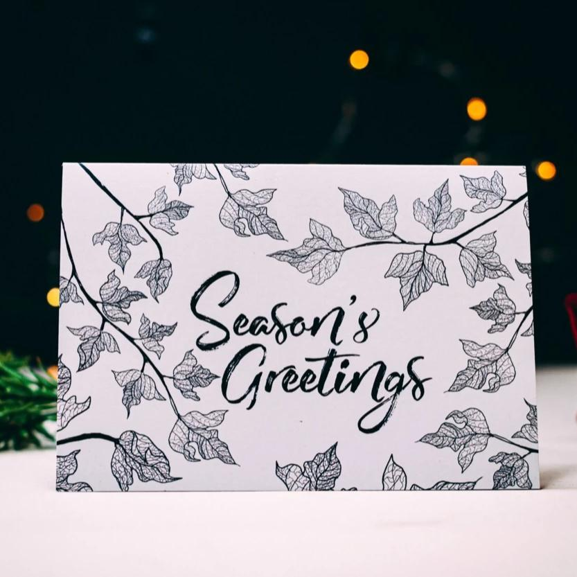 Ivy Illustration Seasons Christmas Card