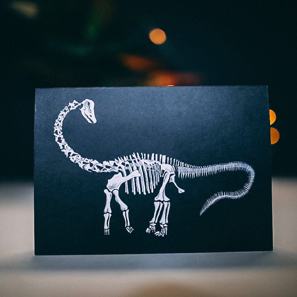 Diplodocus Dinosaur Skeleton Greetings Card