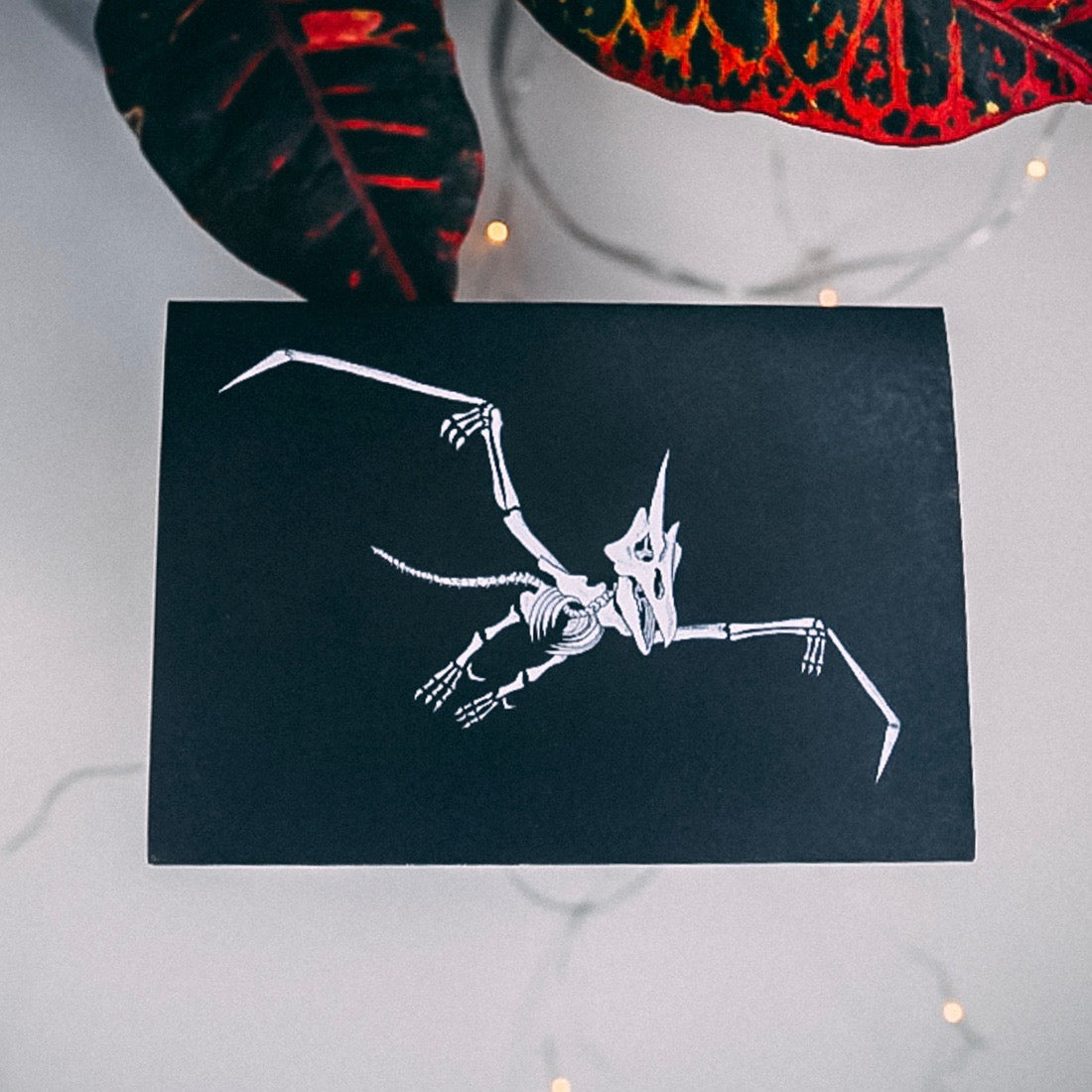 Pterodactyl Dinosaur Skeleton Greetings Card