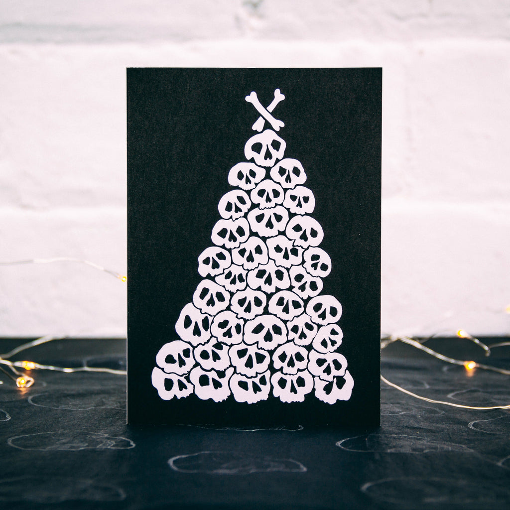 Skull Tree Christmas Card