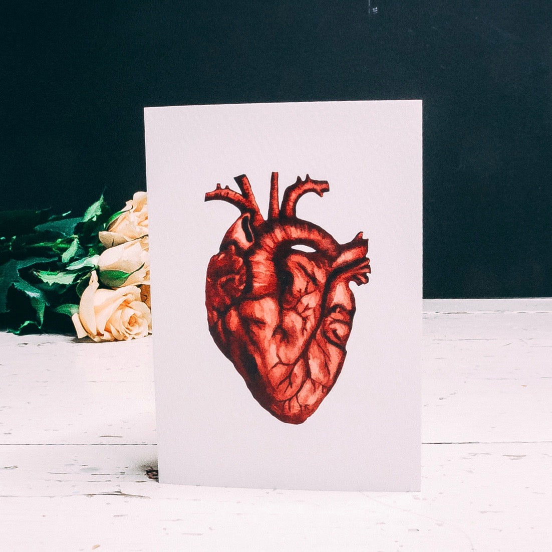 Anatomical Heart Alternative Greetings Card