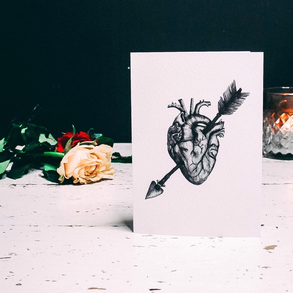 Anatomical Heart Illustrated Greetings Card
