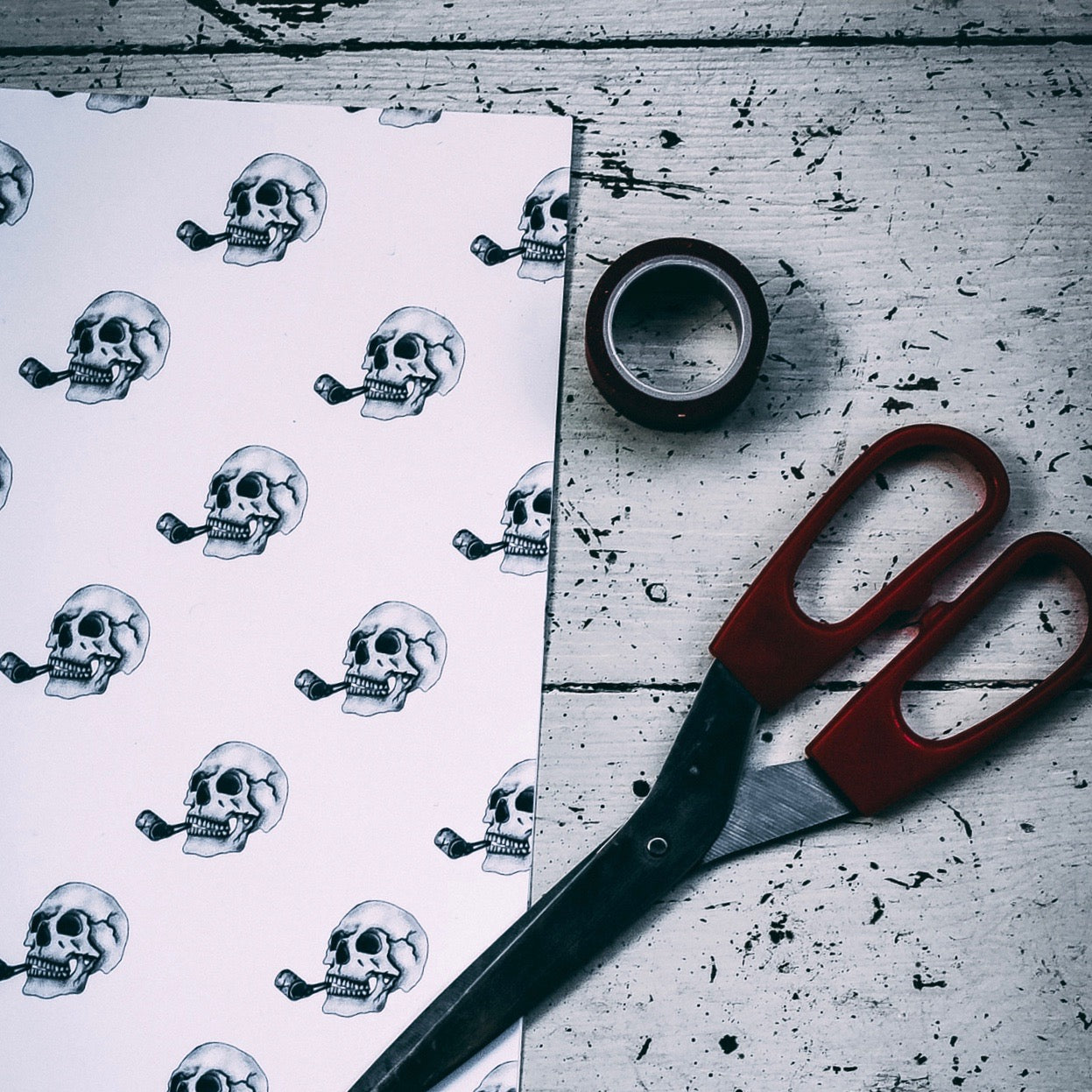 Party Skull Gift Wrap