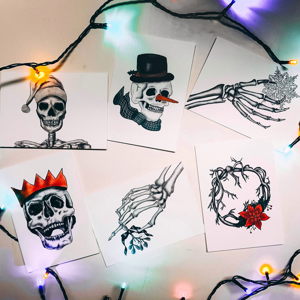 Set of 6 Alternative Christmas Cards