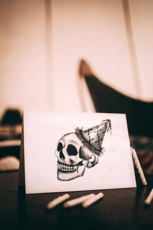 Skull with Crossbones Party Hat - Textured Paper