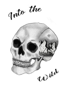 Into The Wild Skull Travel Print