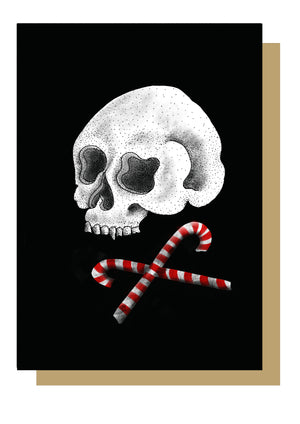 Skull and Cross Candy Alternative Christmas Card